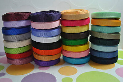 "1/4"" Grosgrain hairbow ribbon 34 yards solid wholesale lot"