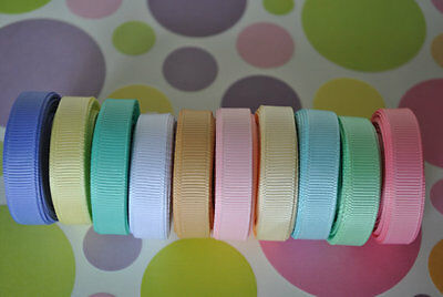"""wholesale 3/8 """" grosgrain ribbon lot  50 yards (10 colors -5y each) for hairbow"""