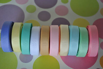 "wholesale 3/8 "" grosgrain ribbon lot  50 yards (10 colors -5y each) for hairbow"