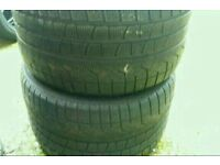 2 X 275 40 19 PIRELLI WINTER TYRES 5MM BMW MERCEDES AUDI MATCHING FOR ALLOY WHEELS