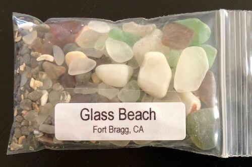 GLASS BEACH ~ FORT BRAGG, CA ~  BEACH GLASS SAND sample
