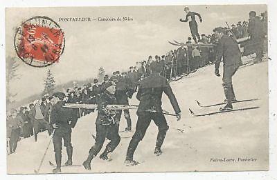 CPA PK AK SPORTS FRANCE 25 PONTARLIER CONCOURS DE SKIES 1911