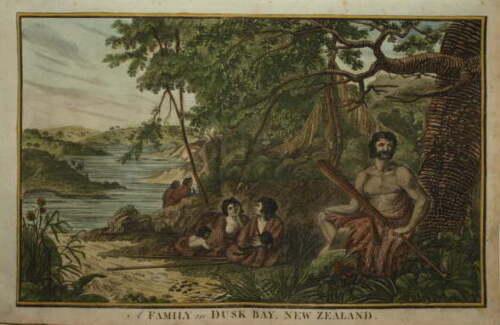 A FAMILY IN DUSK BAY, NEW ZEALAND. CIRCA 1790.