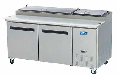 Arctic Air App71r 71 Stainless Commercial Refrigerated Pizza Prep Table New