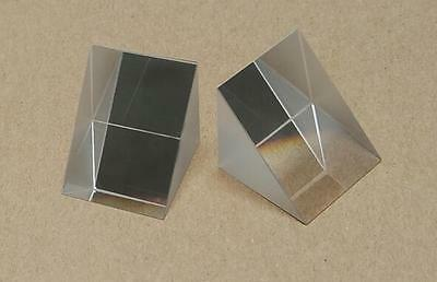 Optical Triple Triangular Dispersive Prism Right Triangle Light Refraction 20mm