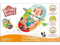 Bright starts roaming safari bouncer