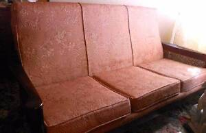 Queen Ann 1960's Three Seater Lounge and Two Arm Chairs Lenah Valley Hobart City Preview