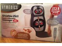 HoMedics Shiatsu 2 in 1 Back & Shoulder Massager with Heat