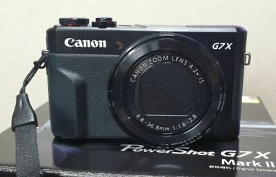 Canon G7X Mark II Power Shot 20.1MP Digital Camera Mark2 MK2 (Black) Used
