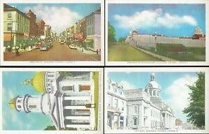 Twelve Early 1950s Vintage Unused 'KINGSTON, Ontario' Post Cards