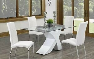 Modern 5pc Dinette Collection featuring X-Base