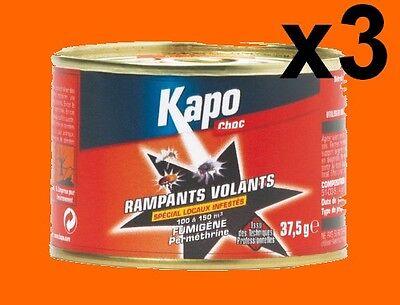 3 Fumigenes Insecticide Kapo 100 À 150 M3