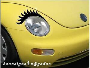 black car eyelashes headlight eyelash volkswagen light decal vw bug beetle