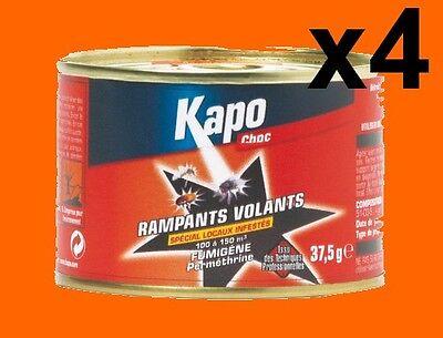 4 Fumigenes Insecticide Kapo 100 À 150 M3