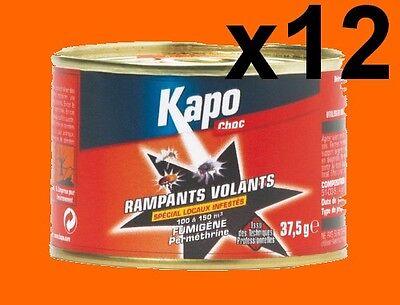 12 Fumigenes Insecticide Kapo 100 À 150 M3