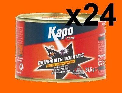 24 Fumigenes Insecticide Kapo 100 À 150 M3