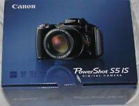 Sep 30 -Canon S5 Digital Camera 12x Optical Zoom - New condition