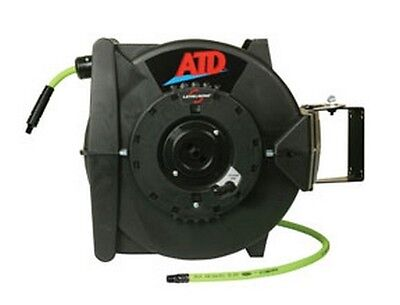Atd Tools 31163 Levelwind Retractable Air Hose Reel W60' Flexzilla Hose