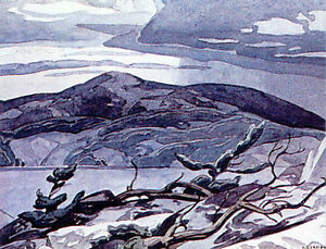 "A.J. Casson Publishers Proof ""Fraser Bay"" Lithograph"