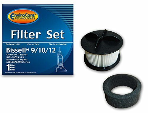 EnviroCare Replacement Vacuum Cleaner Filter Designed to Fit Bissell 9/10/12 ...