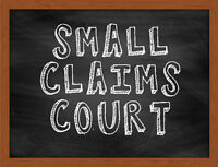 LANDLORD/TENANT MATTERS AND SMALL CLAIMS!