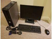 "Computer Dell Optiplex 780 Dual Core 3.0ghz, 250GB, 4GB RAM, PC 19"" Widescreen Monitor, KB/Mouse"