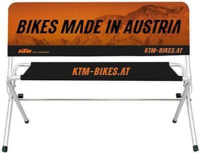 KTM Werbebank Sitzbank 120 cm lang, 80 cm hoch, klappbar für außen und innen NEU