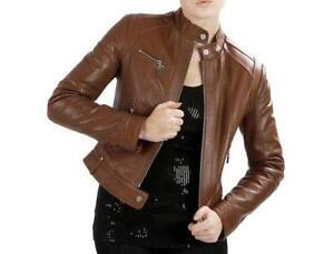 Womens Leather Bomber Jacket Ebay