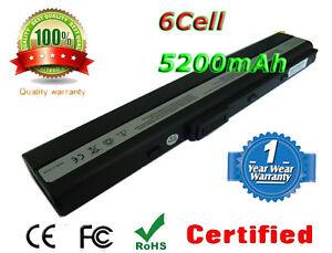 Laptop Battery For Asus K52JB K52JC K52JE K52JK K52JR K52N K52F-SX062V A32-k52