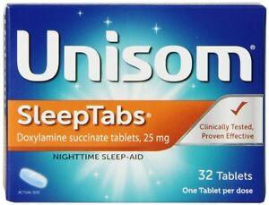 2 Pack - Unisom SleepTabs 32 Tablets Each