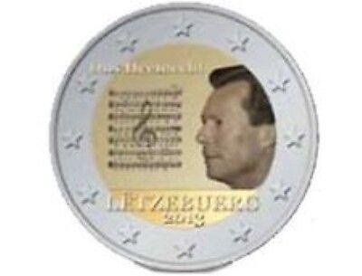 Luxemburg  2013  2 euro commemo Volkslied  UNC uit de rol !!!