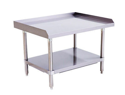 Stainless Steel Equipment Stand 36 Long X 28 Deep With Adjustable Undershelf