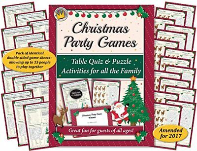 CHRISTMAS PARTY GAMES Table Quiz and Puzzle Activities for Family, Office  Xma](Office Party Games)