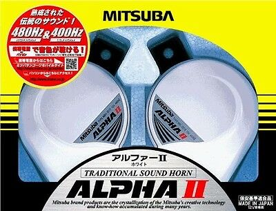 Car parts NEW!! MITSUBA European Horn Alpha II White from Japan