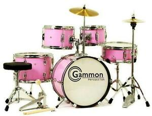 Kids Pink Drum Set