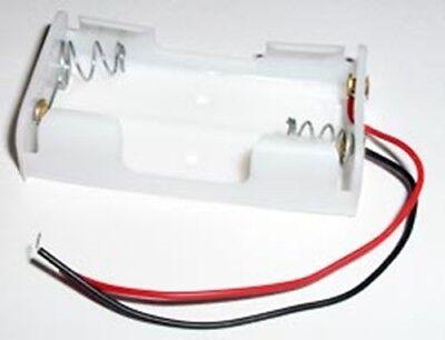 Battery Holder For 2 Aa Batteries White 002-7051