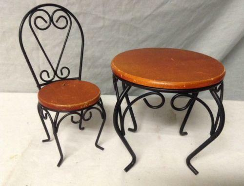 Ice cream parlor table chairs ebay