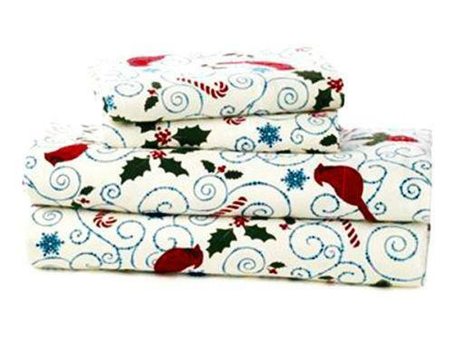 Christmas Flannel Sheets Ebay