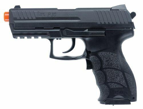 HK P30 Electric Airsoft Pistol w/ Blowback Action & Full Auto Mode - Medium