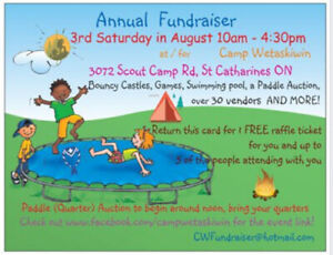 Vendors Wanted for Scouts Canada Fundraiser *OUTDOORS