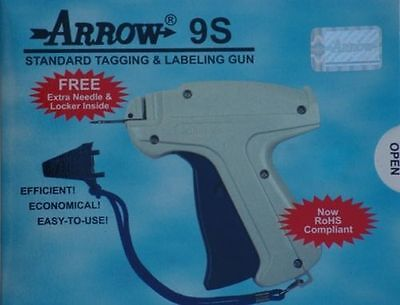 "Garvey Standard Tag Gun 1 Extra Needle 1000 1/"" RED Barbs Cloth Tagging Attacher"