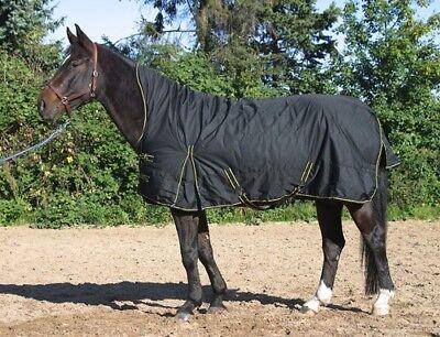 Neu: regendichte Winterdecke m. Highneck 300g schwarz Pferdedecke Weidedecke