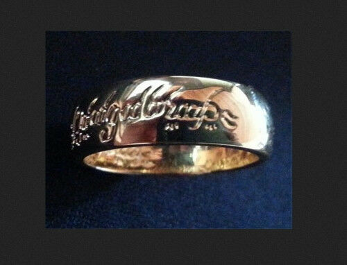 """LORD OF THE RINGS ring (gold plated) """"One Ring"""" LOTR"""