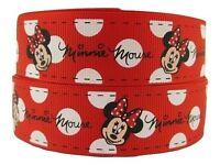 "1 Metre of 7/8"" Minnie Mouse Grosgrain Ribbon"