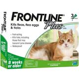 USA SELLER~ Frontline Plus For Cats 3 Pack FREE SHIPPING 3 Month Supply Merial