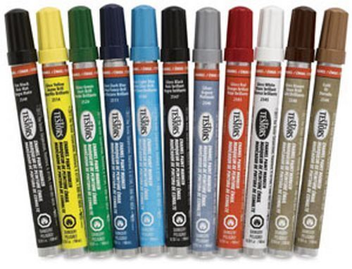 TESTORS all purpose ENAMEL PAINT MARKER plastic wood MODELING markers PICK COLOR