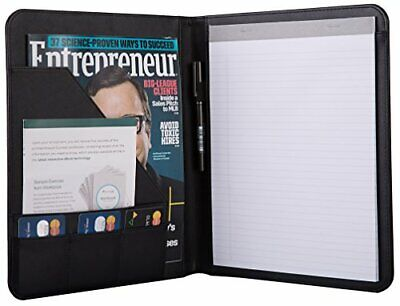 Business Padfolio Writing Notepads Letter Size Personal Planner Organizer Black