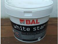 BAL White Star Plus Water Resistant Tile Adhesive 10 litres - Fibre reinforced