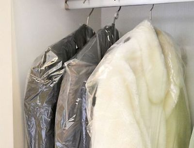 Lot Of 15 Dry Cleaner Poly Garment Bags Extra Long 21  X 4  X  54  Garment Bags