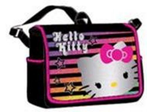Hello Kitty Messenger bag shoulder baby diaper tote handbag Sanrio rainbow black